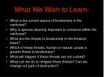 what we wish to learn