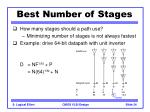 best number of stages34