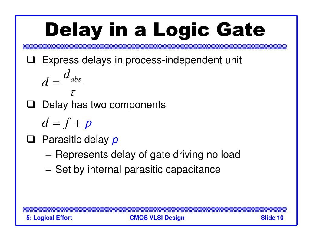 Delay in a Logic Gate
