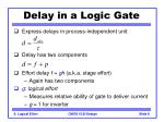 delay in a logic gate8