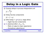 delay in a logic gate9