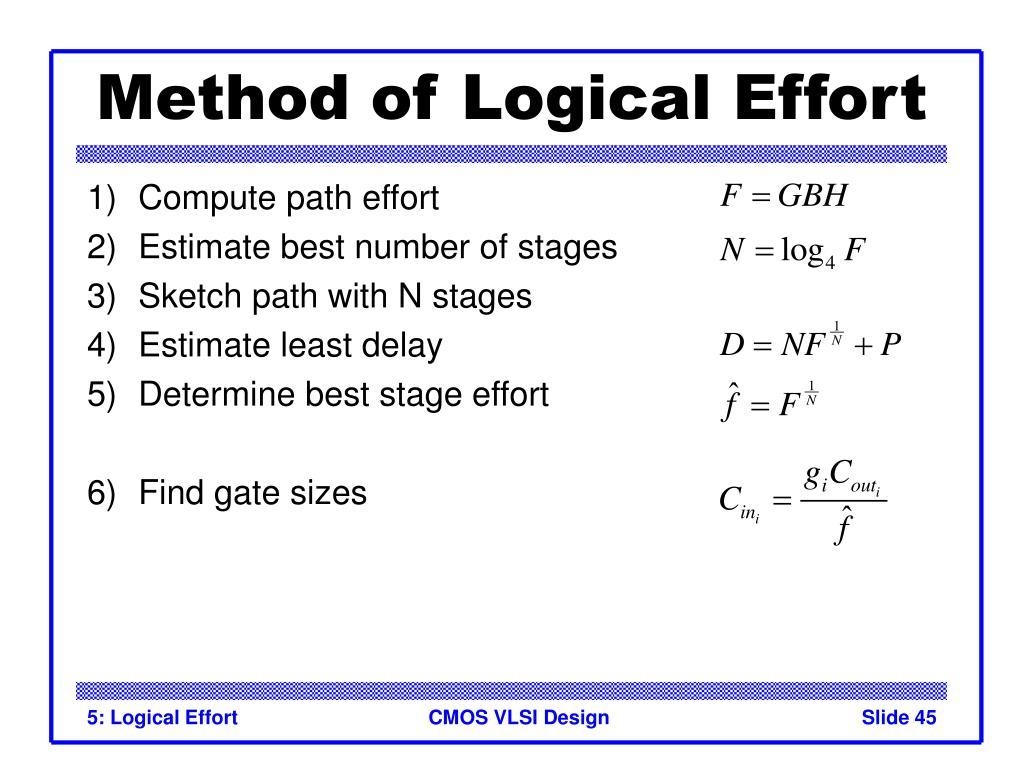 Method of Logical Effort