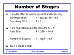 number of stages40