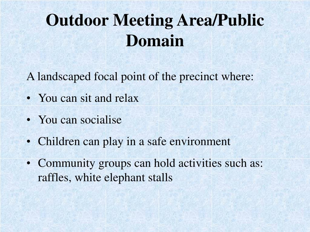 Outdoor Meeting Area/Public Domain