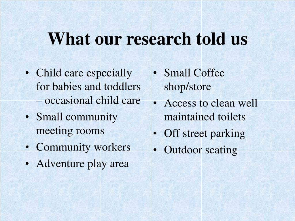Child care especially for babies and toddlers – occasional child care