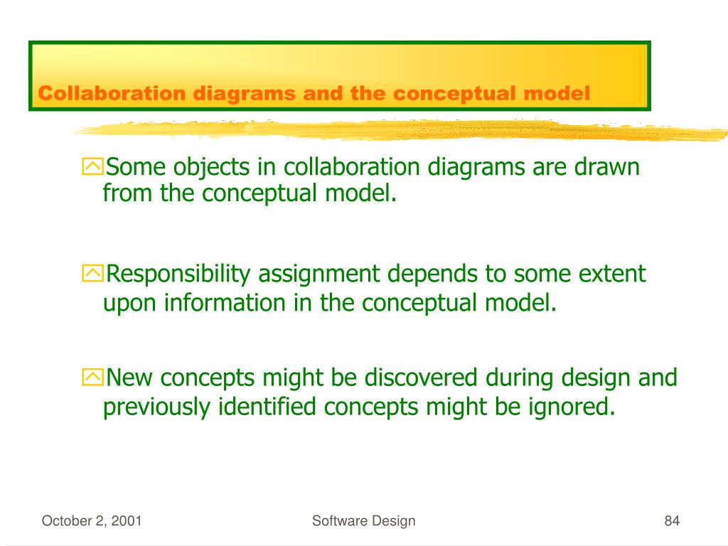 Collaboration diagrams and the conceptual model