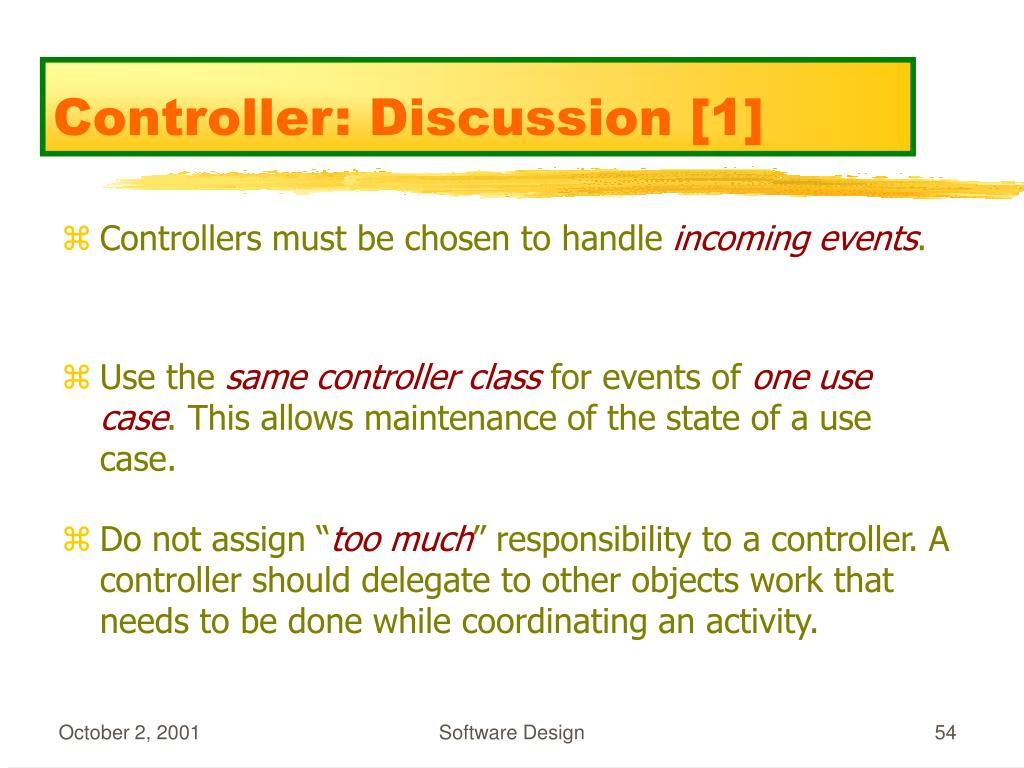 Controller: Discussion [1]