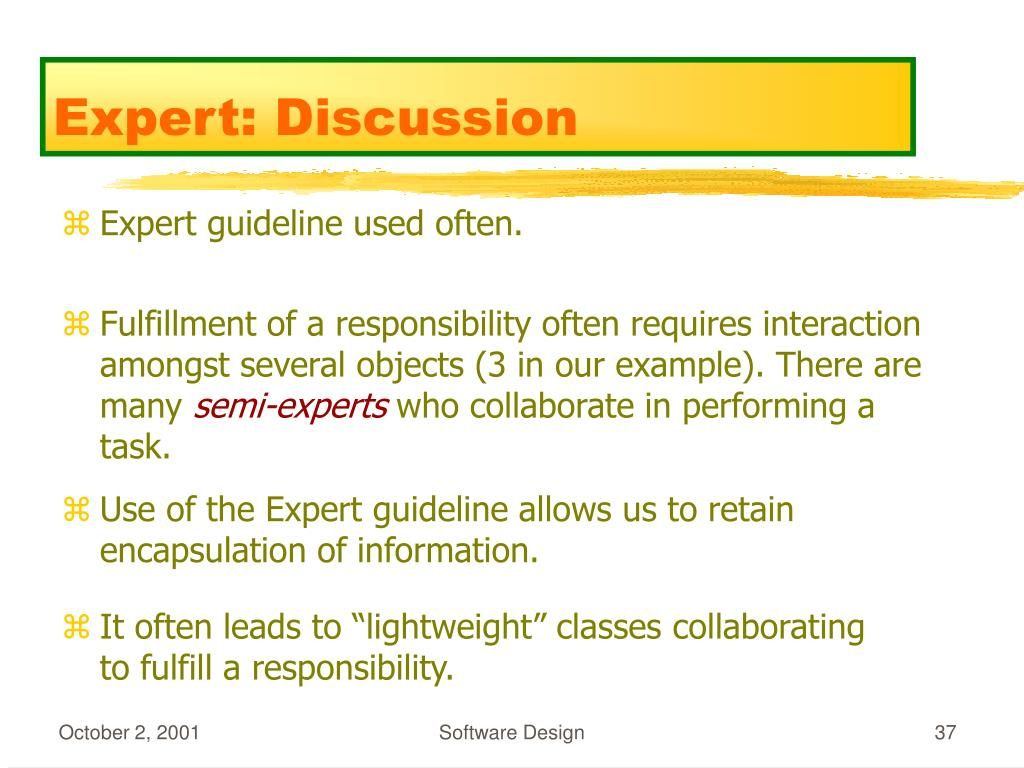 Expert: Discussion