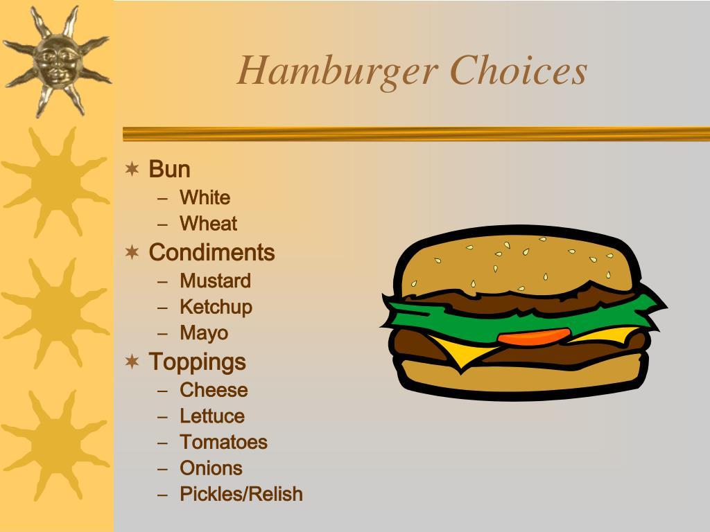 Hamburger Choices