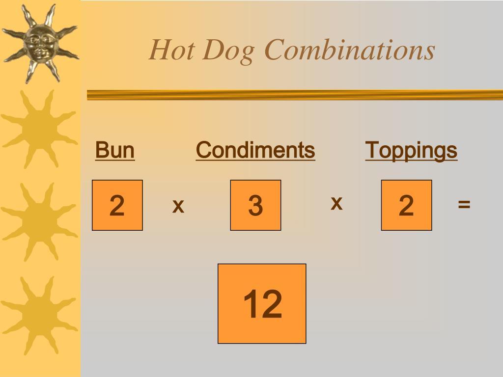 Hot Dog Combinations