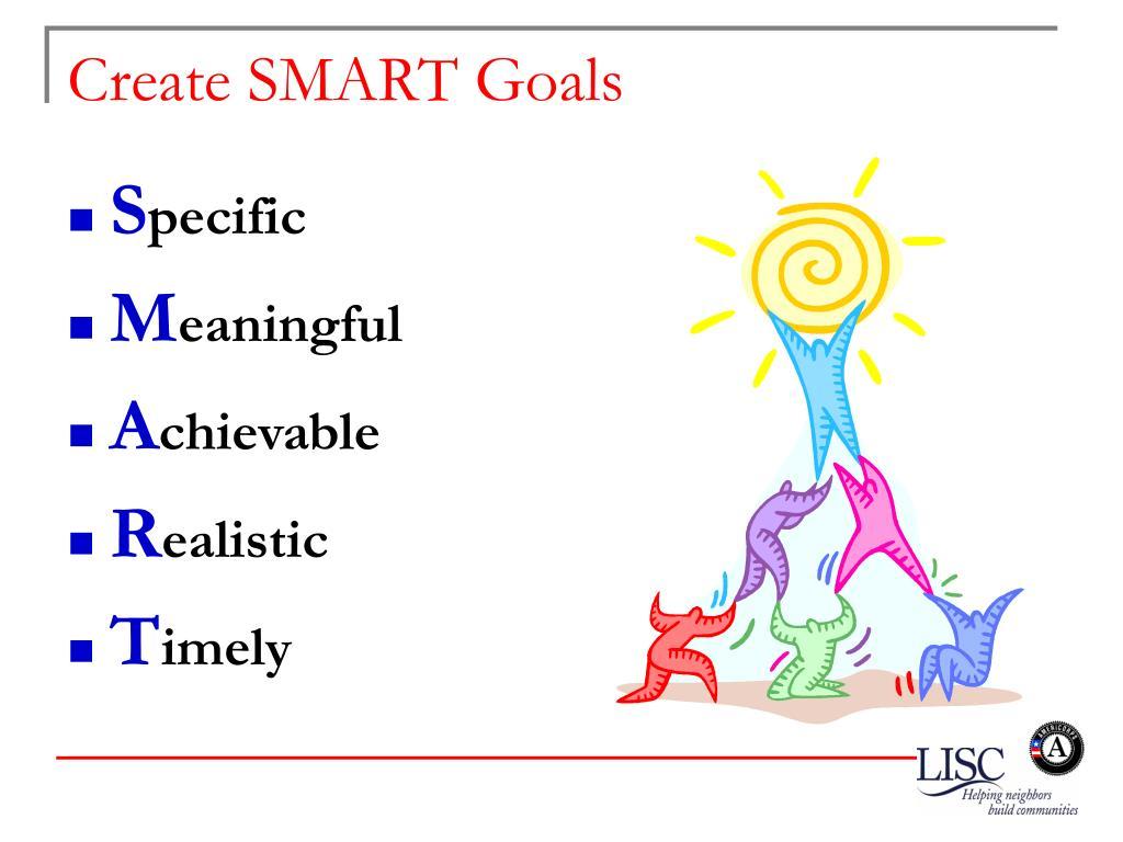 Create SMART Goals