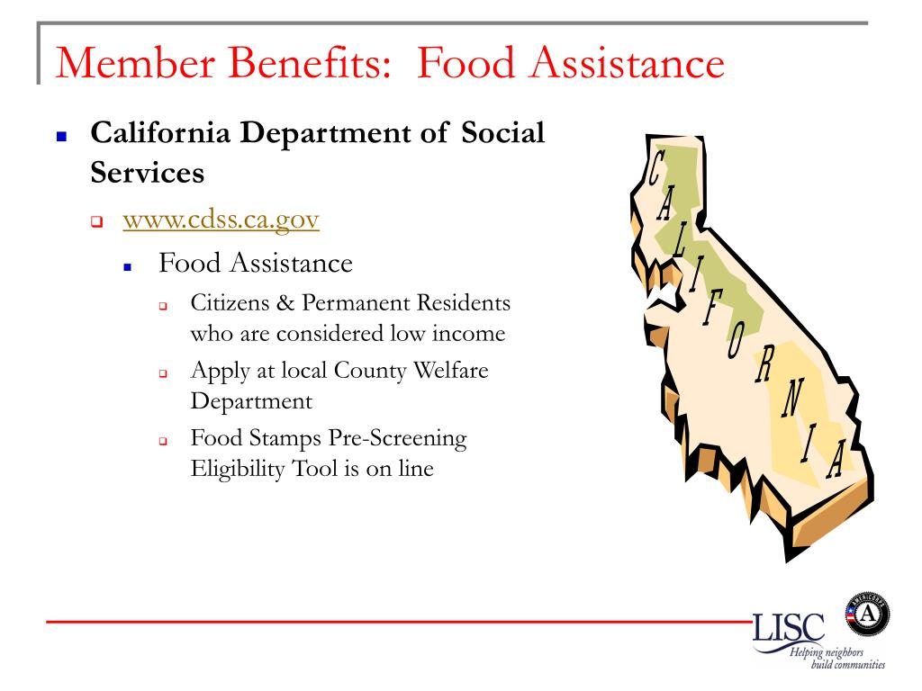 Member Benefits:  Food Assistance