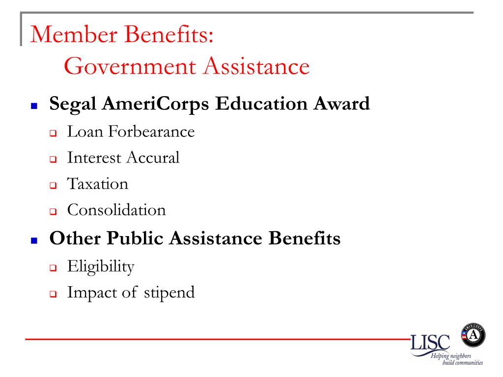 Member Benefits: