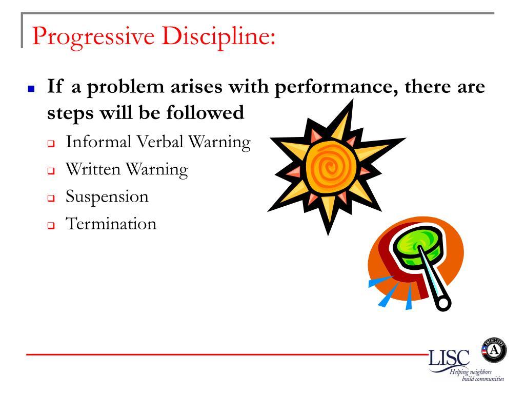 Progressive Discipline: