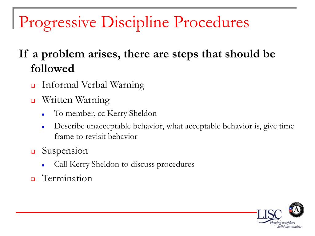 Progressive Discipline Procedures