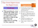tips from supervisors for supervisors60