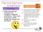 tips from supervisors for supervisors61