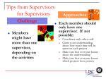 tips from supervisors for supervisors62