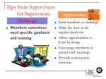 tips from supervisors for supervisors63