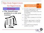 tips from supervisors for supervisors64