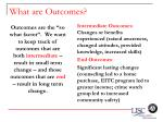 what are outcomes