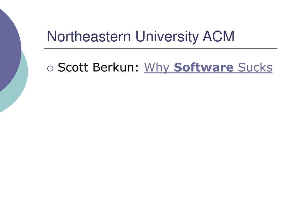 Northeastern University ACM