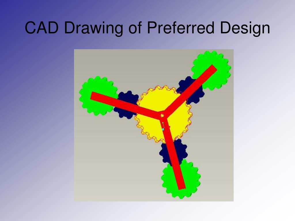 CAD Drawing of Preferred Design