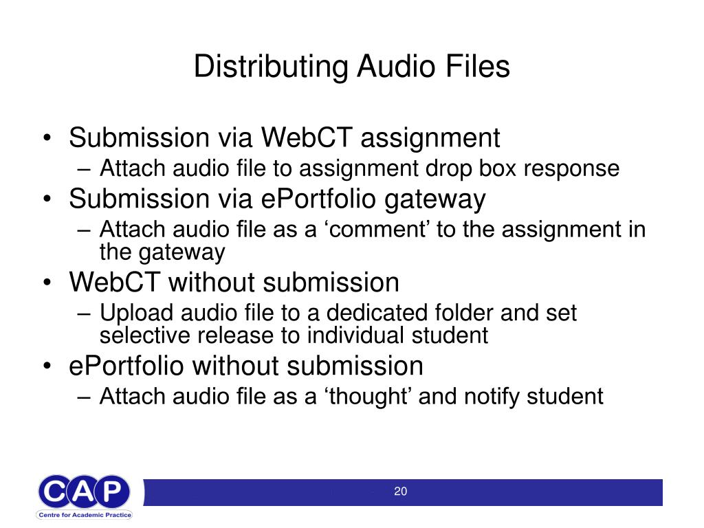 Distributing Audio Files