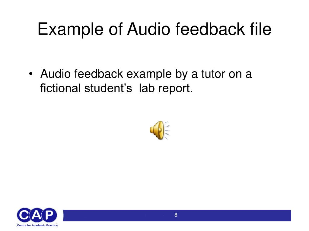 Example of Audio feedback file