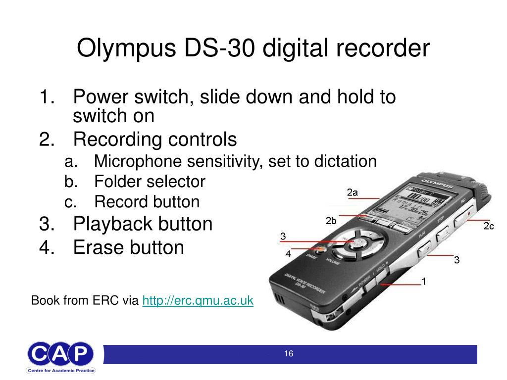 Olympus DS-30 digital recorder