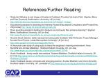 references further reading