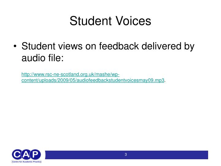 Student voices