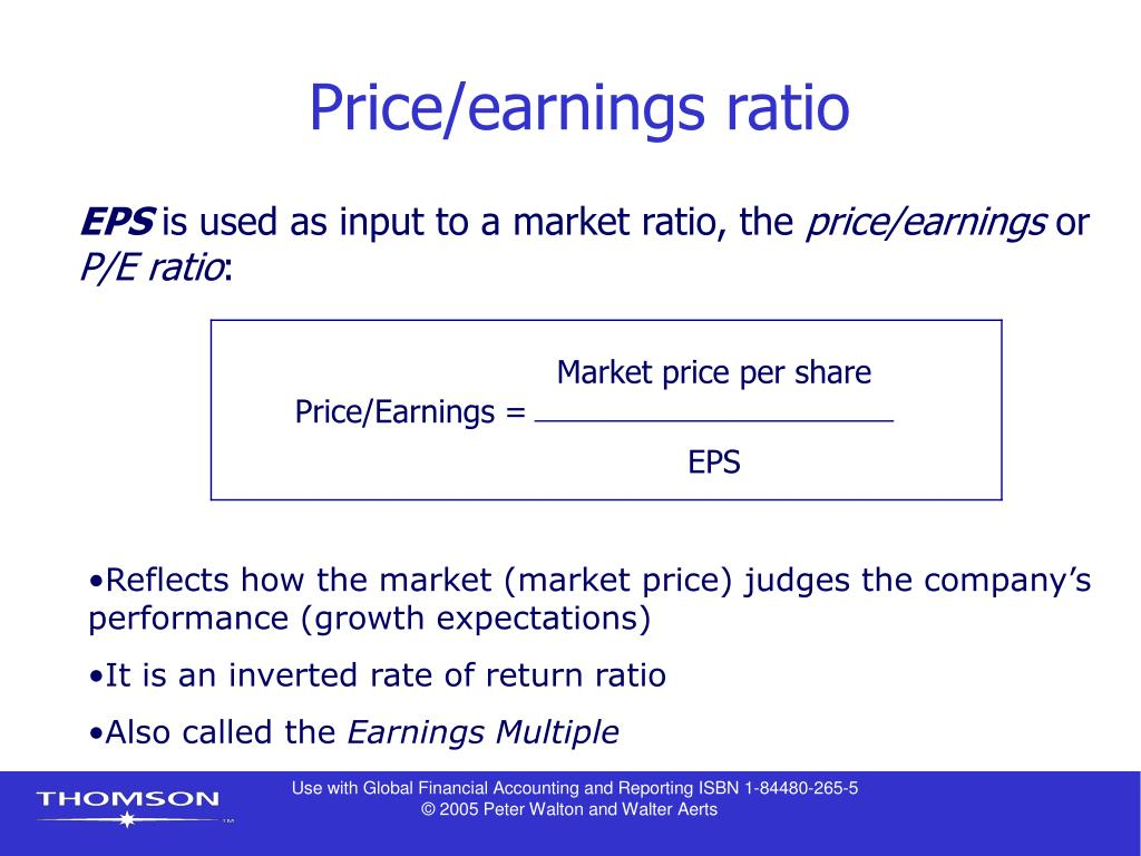relationship between earnings per share price