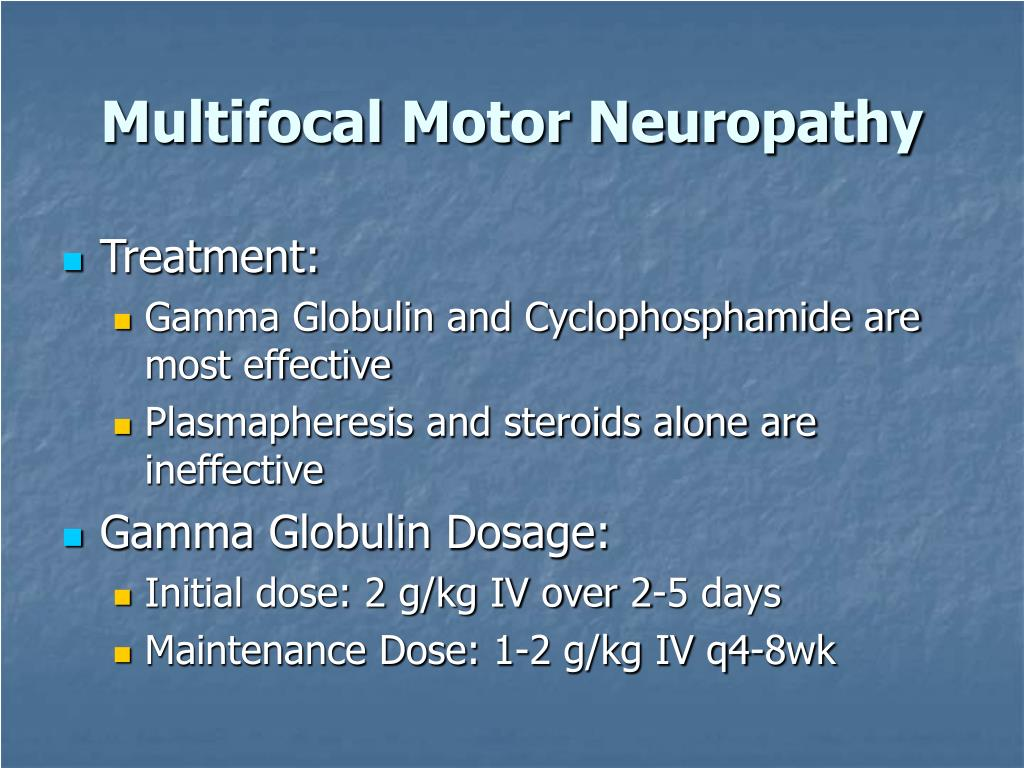 Ppt what 39 s happening in iv gamma globulin clinical use for What is motor neuropathy