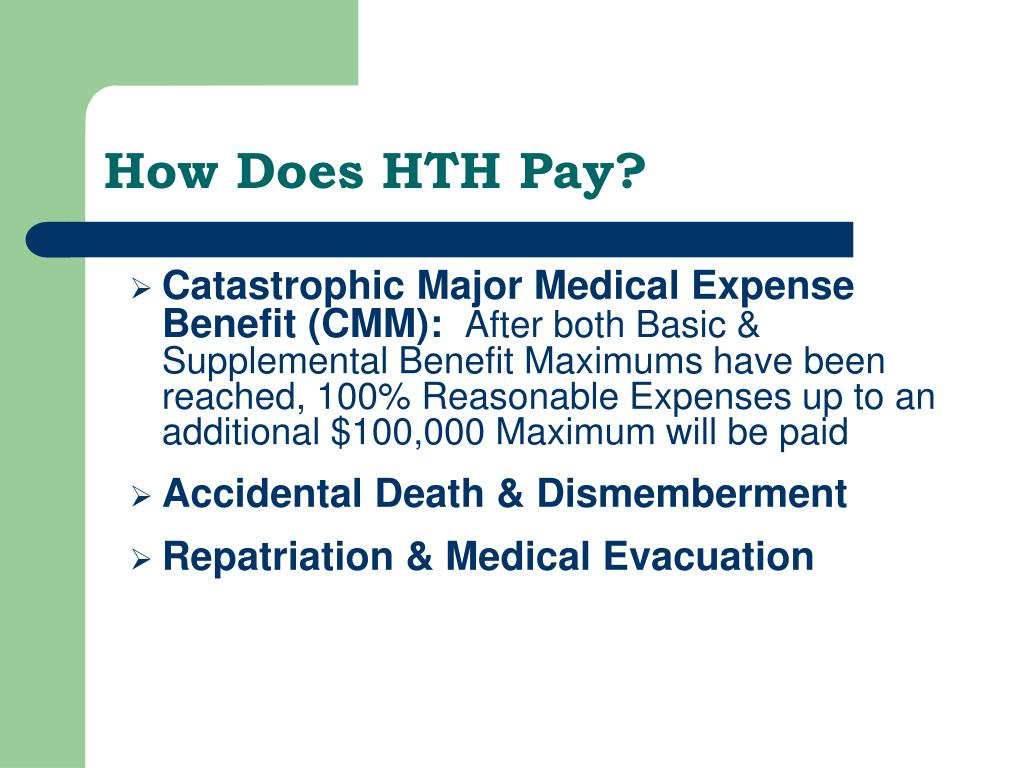 How Does HTH Pay?