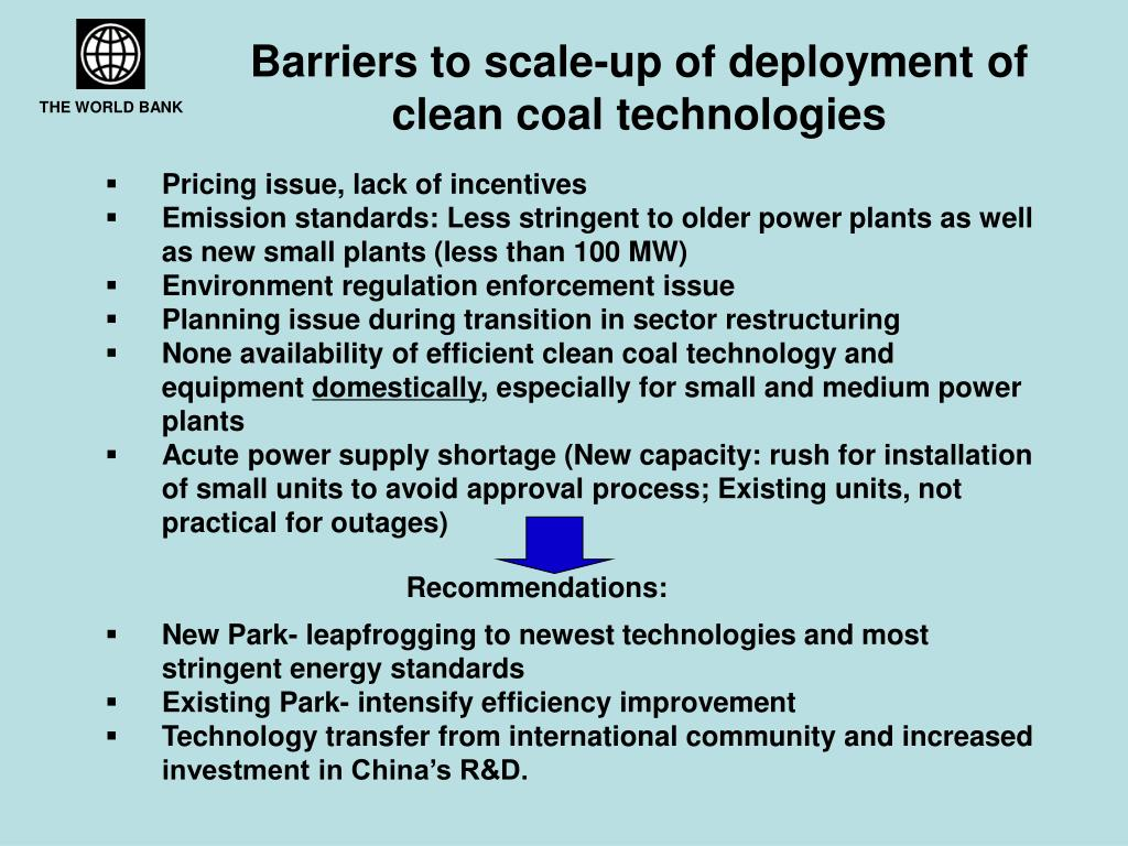 Barriers to scale-up of deployment of