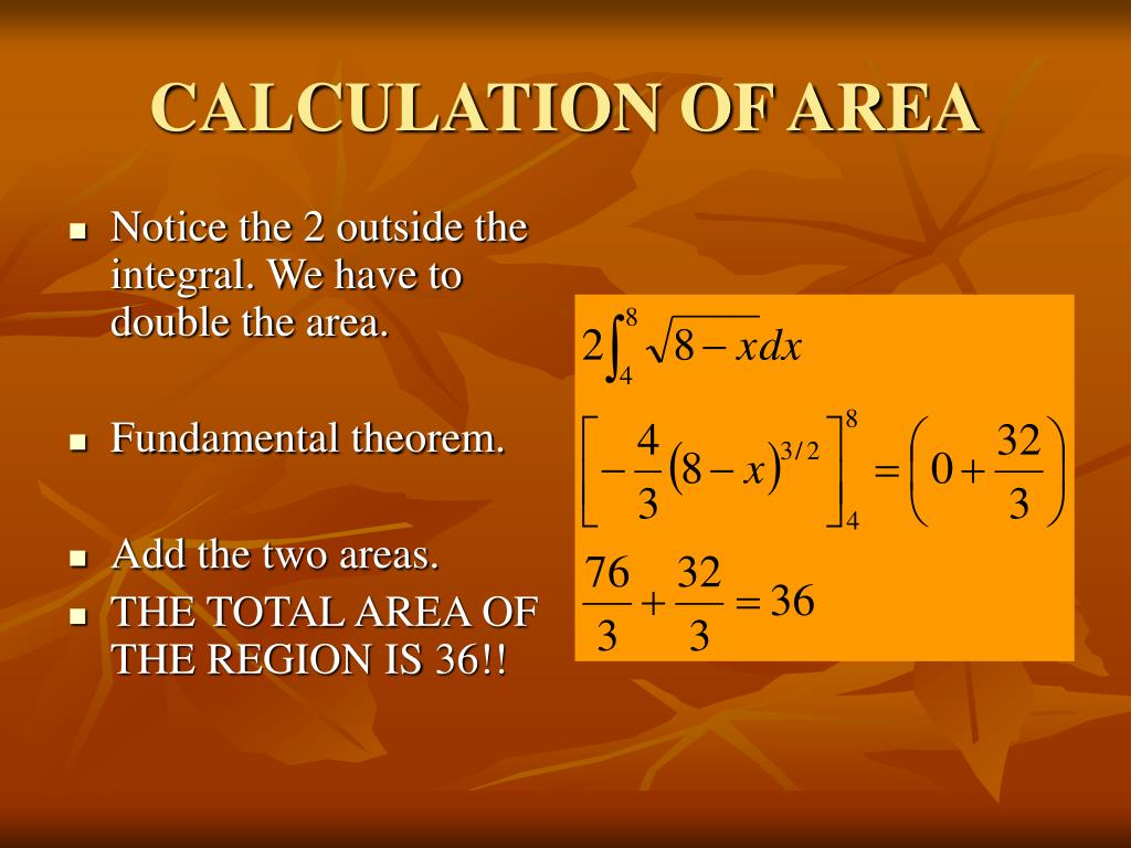 CALCULATION OF AREA