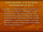 integrating a function with respect to y