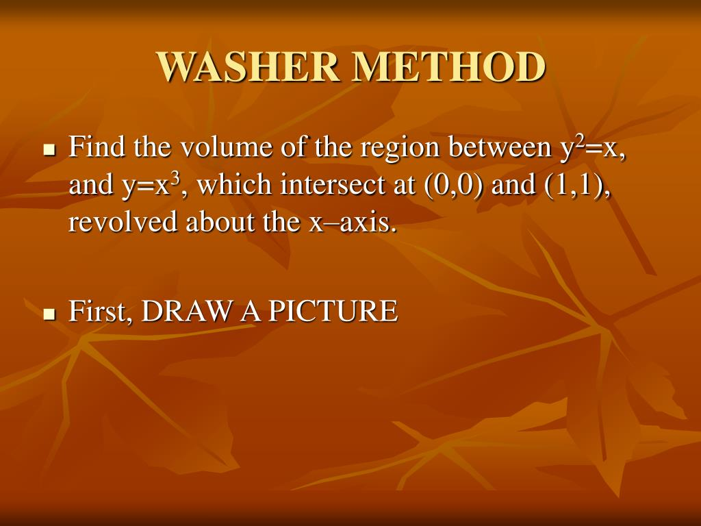 WASHER METHOD