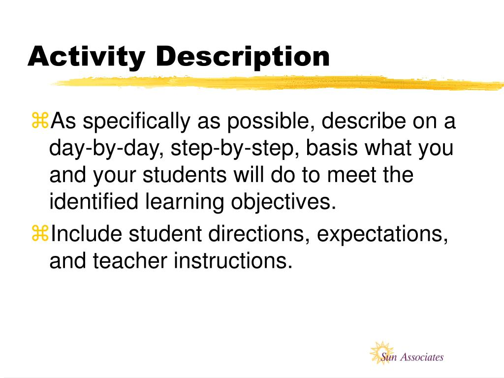 Activity Description
