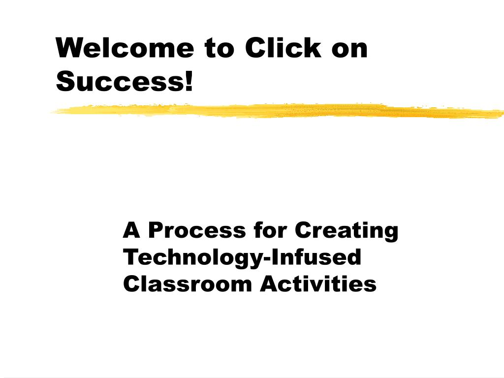 welcome to click on success