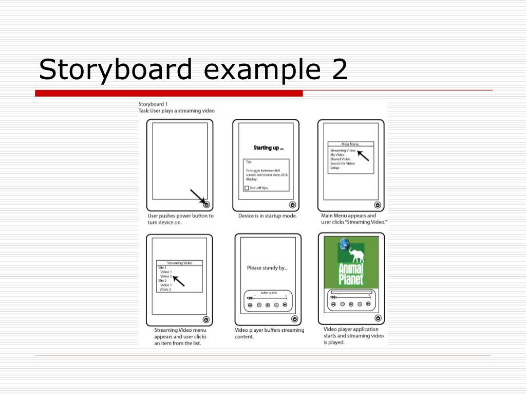 Storyboard example 2