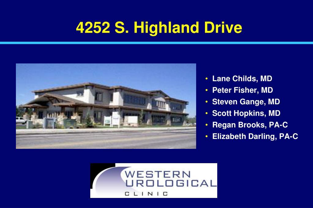 4252 S. Highland Drive