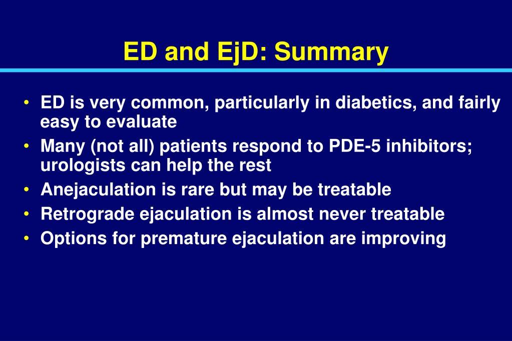 ED and EjD: Summary