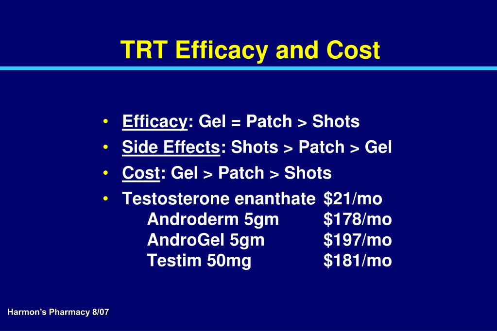 TRT Efficacy and Cost