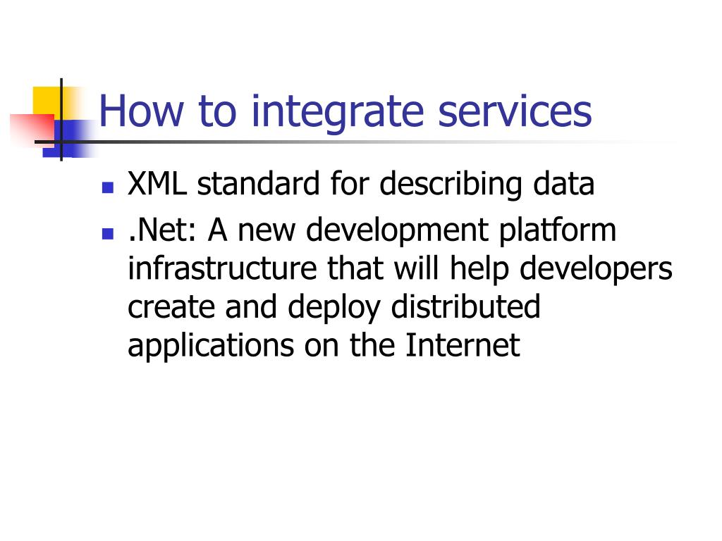 How to integrate services