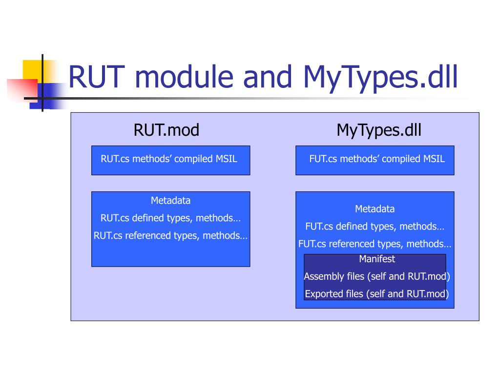 RUT module and MyTypes.dll
