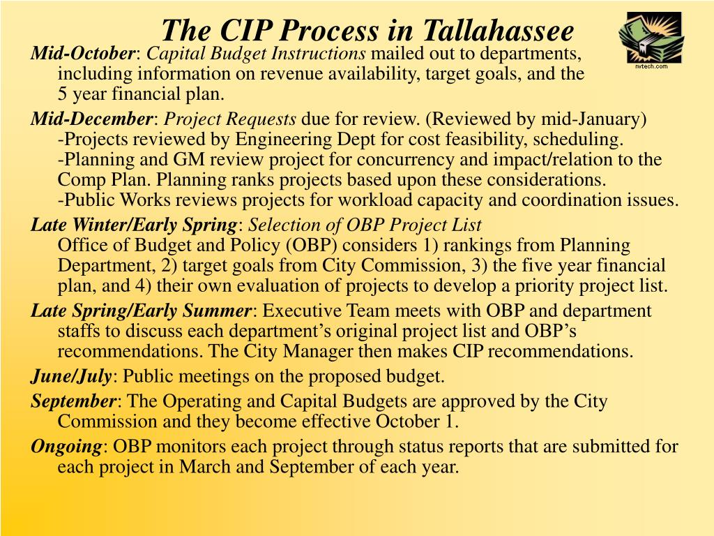 The CIP Process in Tallahassee
