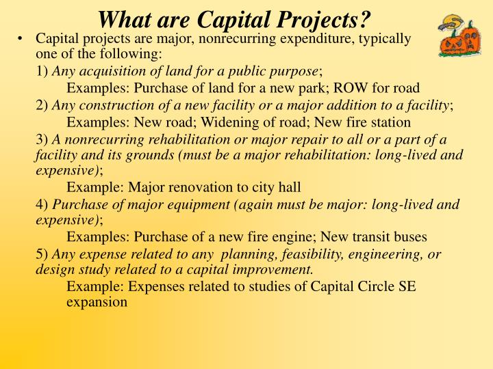 What are Capital Projects?