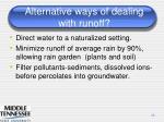 alternative ways of dealing with runoff